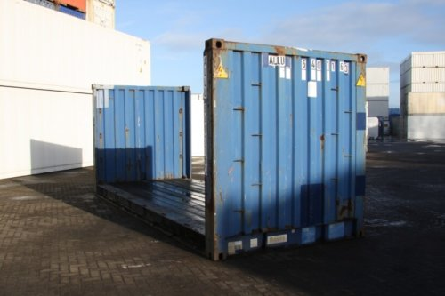 20FT Flatrack Fixed-End container 01